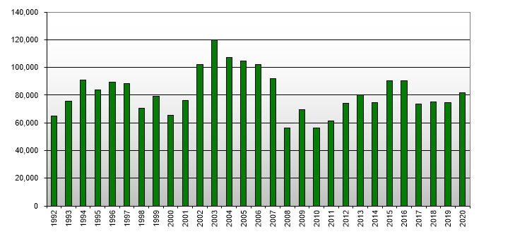 New Zealand Real Estate - Sales by Year (1992 - 2010)